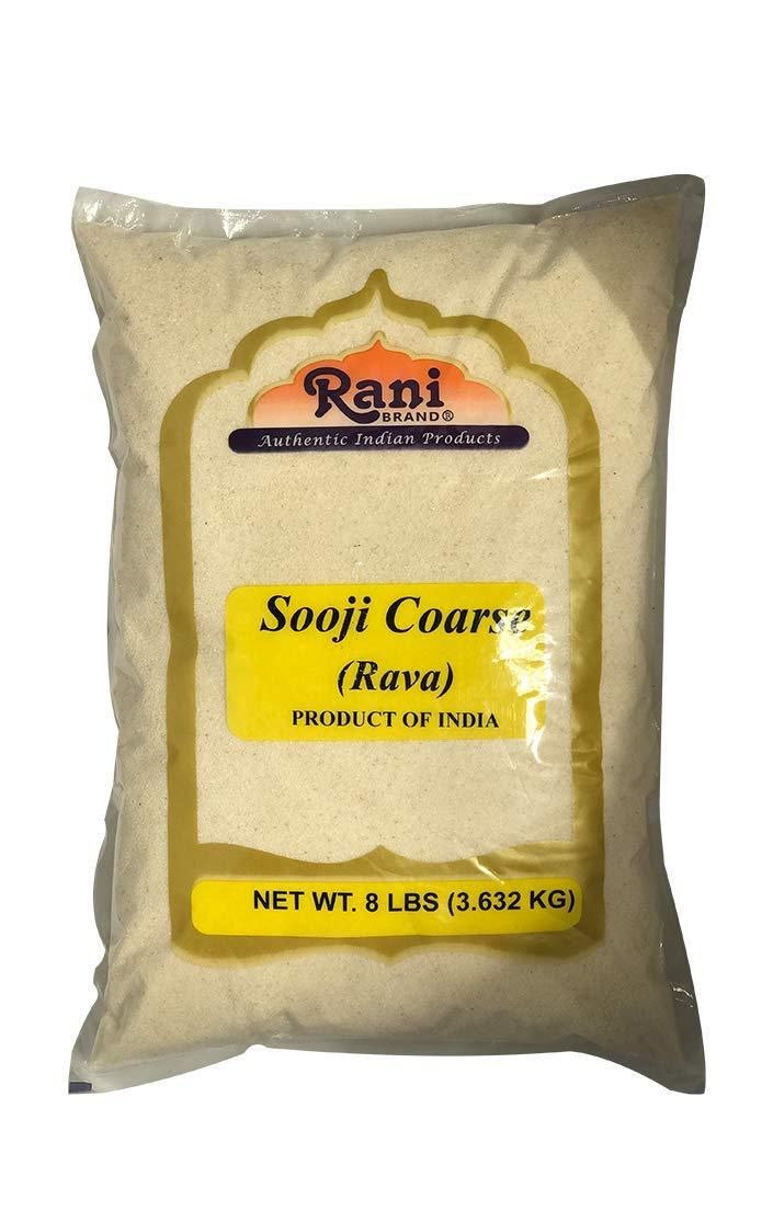 Rani Sooji (Farina, Suji, Rava, Rawa, Semolina) Flour, Coarse 8lbs (128oz) ~ All Natural | Vegan | NON-GMO | Indian Origin