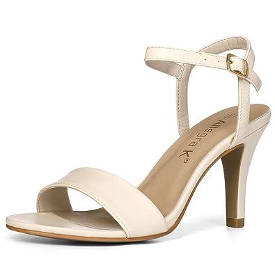 fa873a6a6 Amazon.com   Allegra K Women Open Toe Stiletto Heel Ankle Strap ...