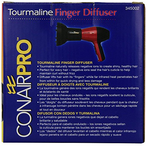 Conair Pro Tourmaline Universal Finger Diffuser, Black