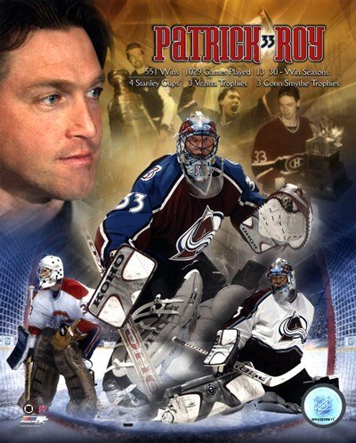 Patrick Roy - Legends - 8x10 Inches - Art Print Poster