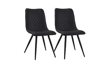 B.H.D Anouck - Set de 2 sillas Modernas escandinavo - Piel sintética ...