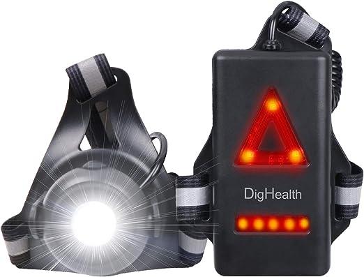 Anecity Lampada da Corsa a LED per corridori Passeggiate con Il Cane Ricaricabile Tramite USB Regolabile con 3 modalit/à Torace a LED Impermeabile Impermeabile di Sicurezza