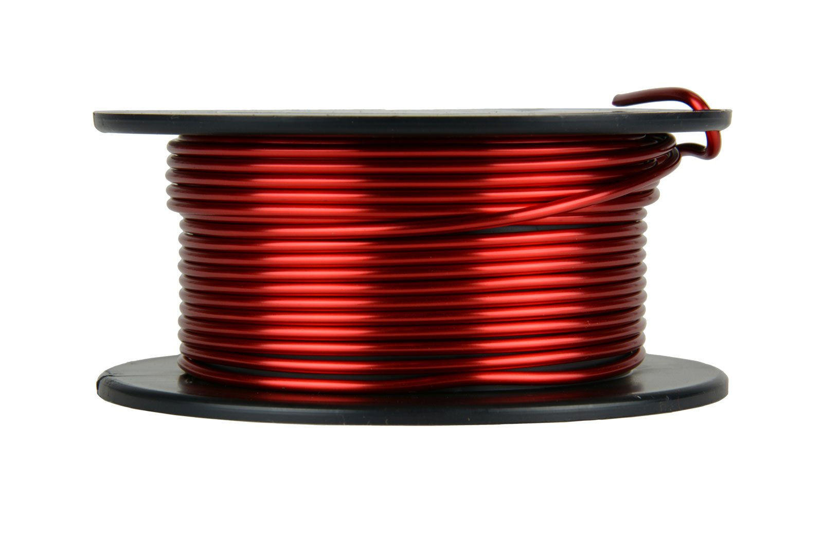 TEMCo 12 AWG Copper Magnet Wire - 4 oz 12 ft 155°C Magnetic Coil Red