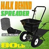 Generic preader H Lawn Yard r Ferti Push Seed Salt l Pu Broadcast Push rtilize Spreader Hopper cast Pu Fertilize 80LB Manual dcast