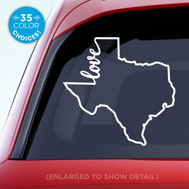 Amazon com texas state love decal tx love car vinyl sticker add a heart over houston san antonio dallas austin fort worth el paso