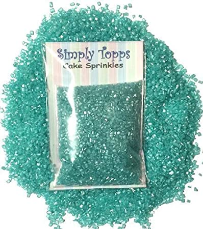 Sparkling Sugar crystals 30g - cupcake Cake Sprinkles for Decorating  (Turquoise)