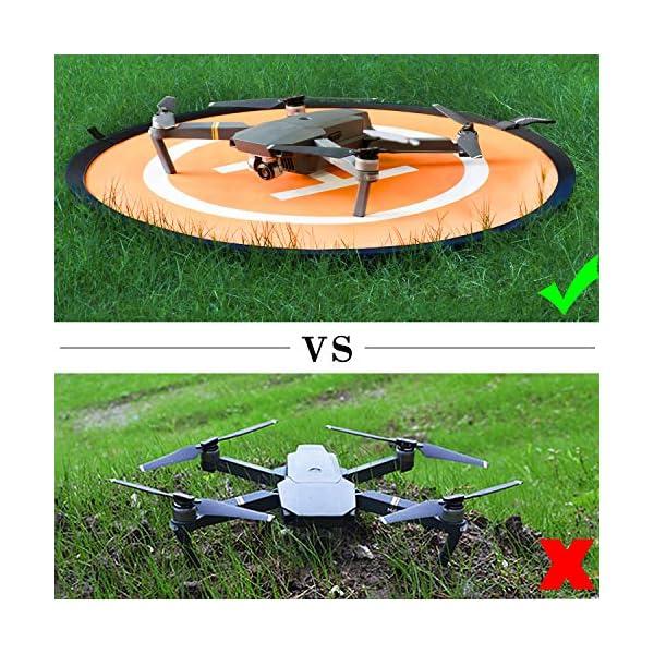 WisFox Drone Landing Pad Impermeabile 75cm Atterraggio Pieghevole Portatile per Elicotteri RC Drone 6 spesavip