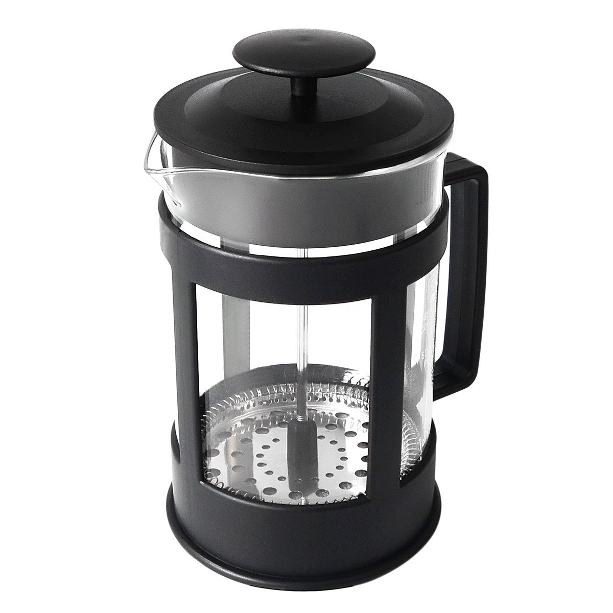 French Coffee Press Espresso and Tea Maker with Triple Filters Stainless Steel Plunger and Heat Resistant Glass