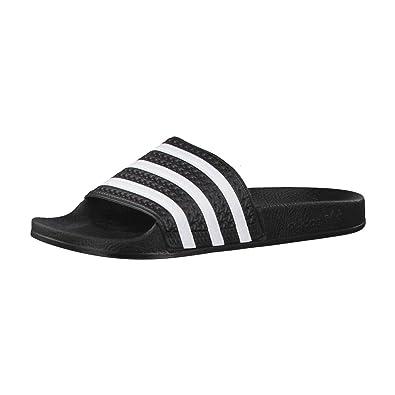 11d86962a44 adidas Adilette - Sandales Mixtes pour Adulte - Noir - Noir