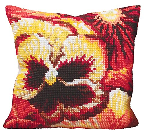 RTO ETE Collection D'Art Stamped Needlepoint Cushion Kit, 40 x 40cm 5095