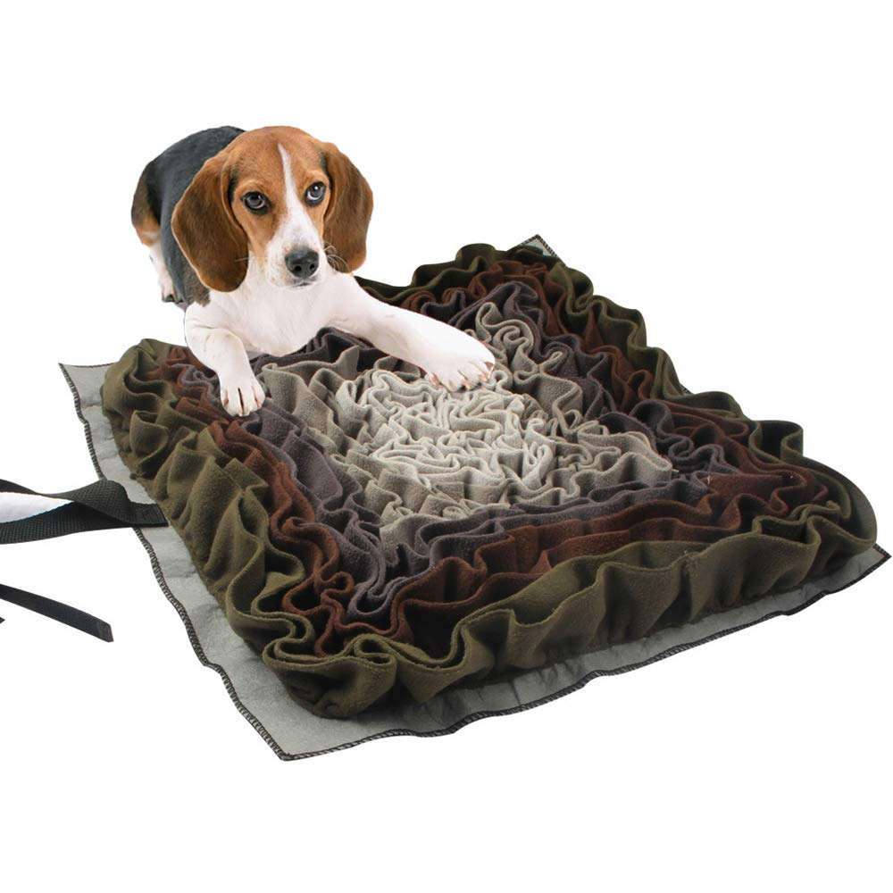 FXQIN Foldable Pet Snuffle Mat,Slow Feeding Mat Dog Training Mat for Small, Medium and Large Dogs, Stress Release Pad