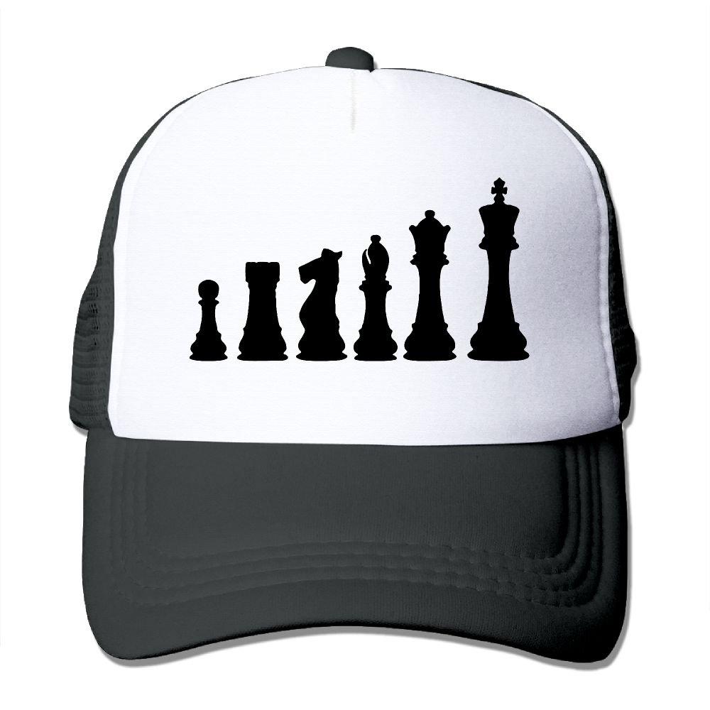 HAT-HAT Chess Board Men Women Adjustable Snapback Hats Trucker Cap Baseball Caps Mesh Back