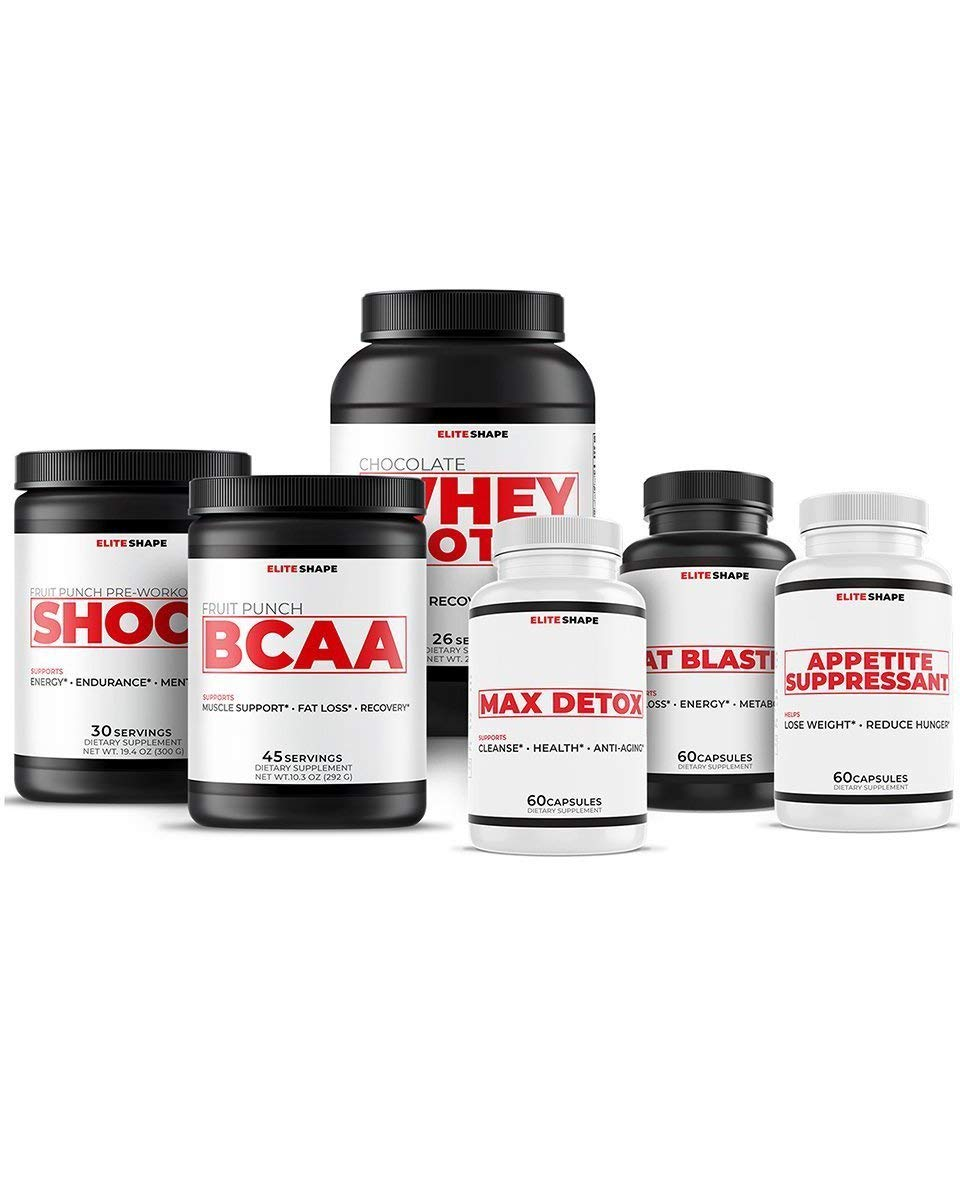 Women's Mega Weight Loss Stack by Elite Shape | Sports and Fitness Dietary Nutrition Supplement | Burn Fat and Increase Energy