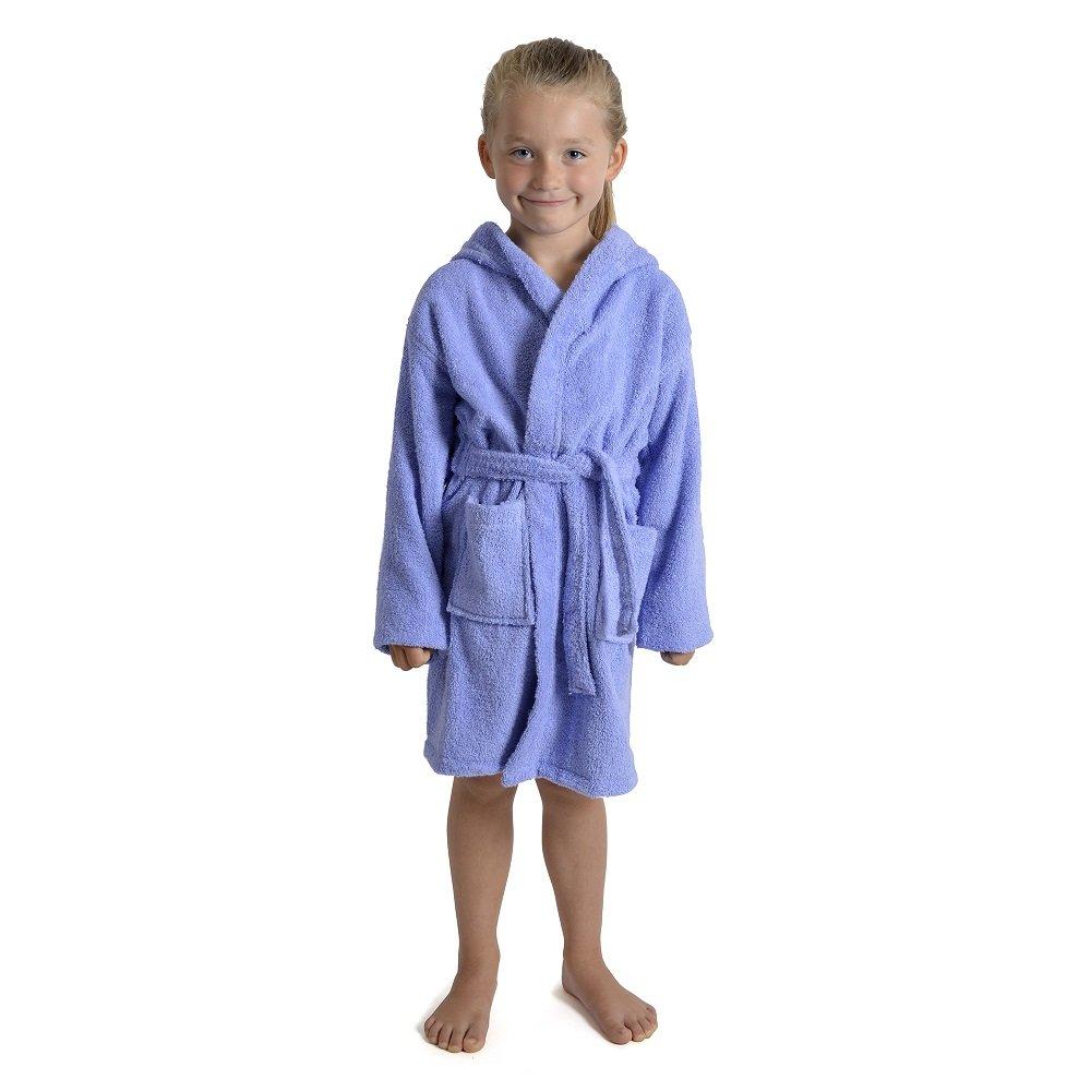 CityComfort Accappatoio per Bambino Bambina Ragazzo Ragazza con cappuccio 100% Cotone Vestaglia Morbida in Spugna di Cotone 7-13 anni