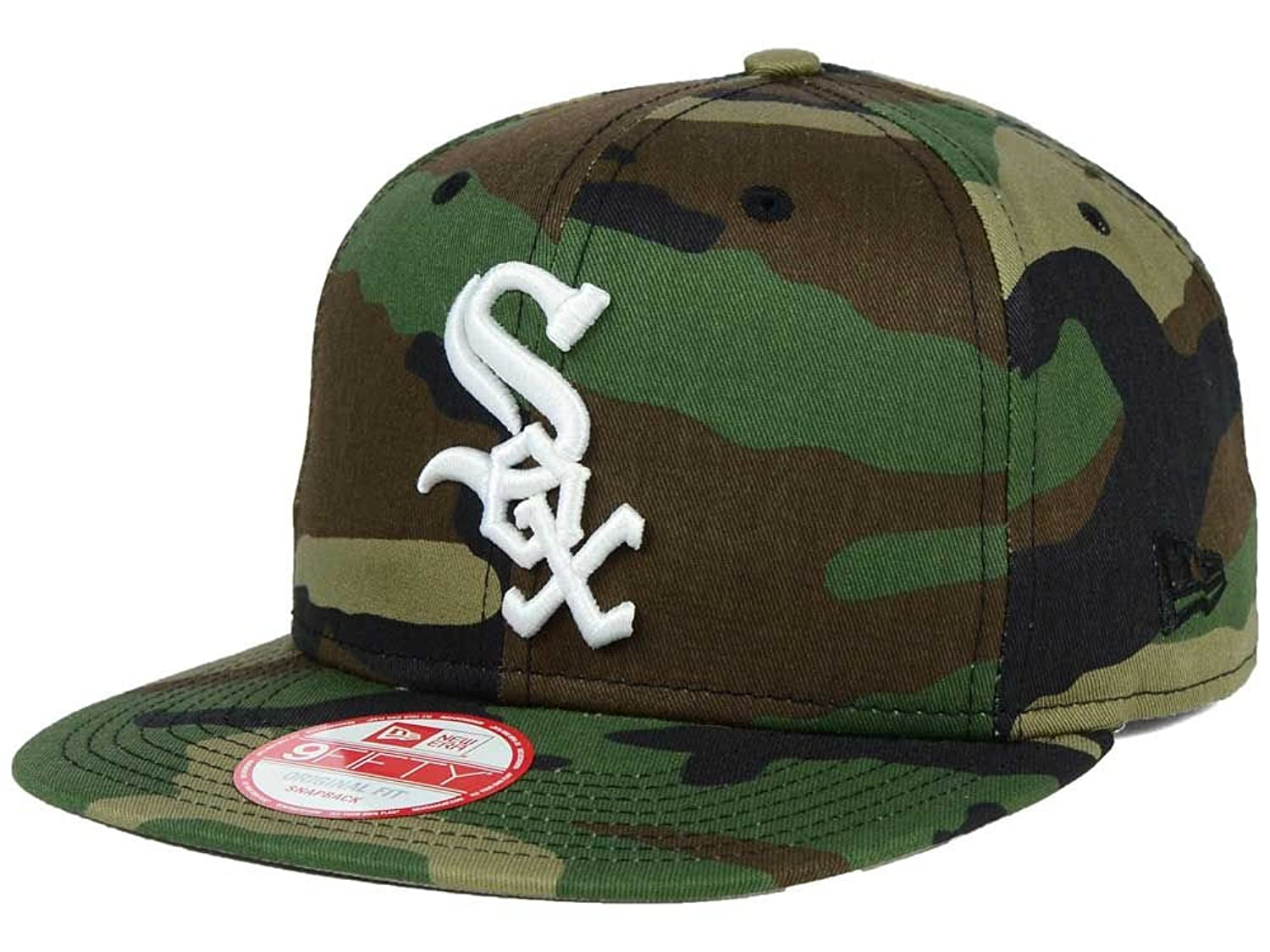 c5eb7d528c5 ... discount amazon new era 9fifty mlb chicago white sox hat state clip  snapback woodcamo one size