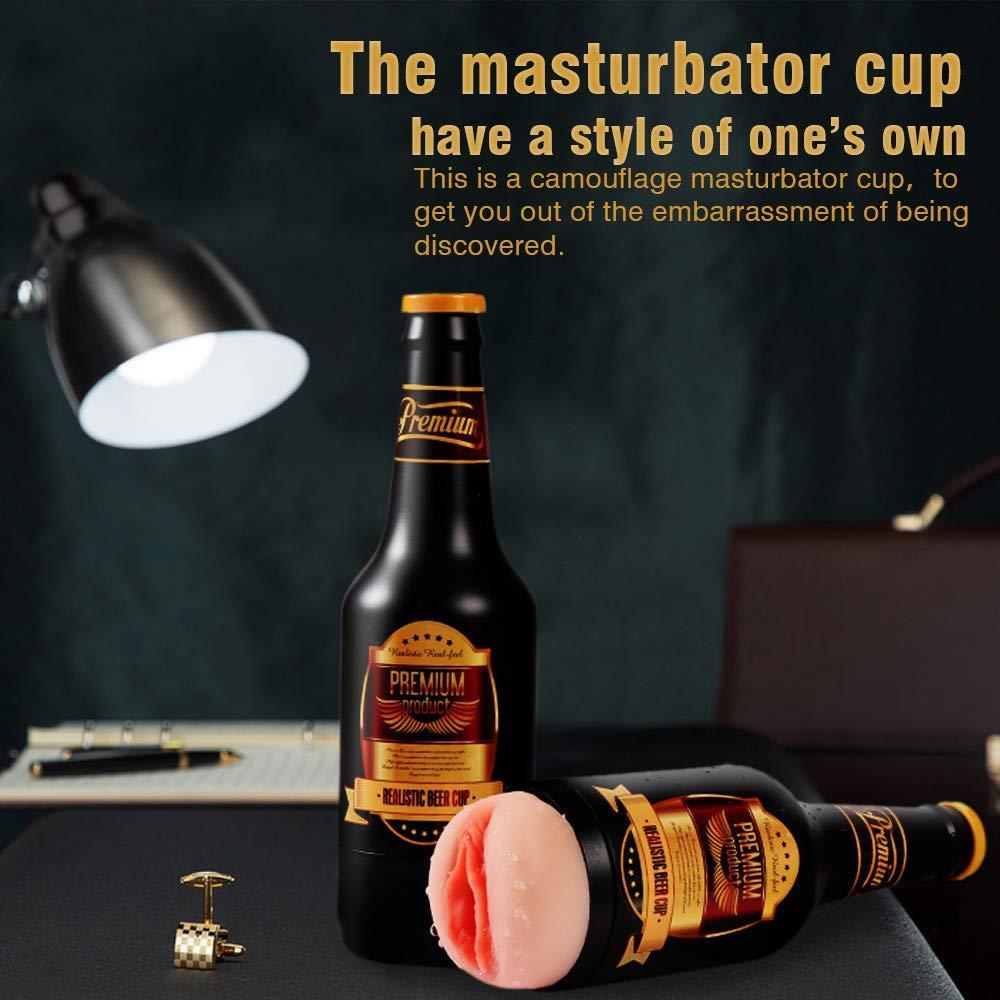 Dkdimi Male Masturbator Sex Toys, 3D Realistic Vagina Masturbation Adult Toy Close-Ended Stroker Built-in Cock Ring Pocket Pussy for Man Masturbation MD-Dkdimi-21185