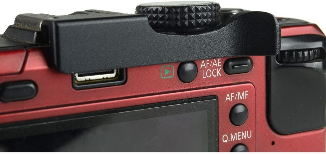 52mm Kamera Blitzschuh Thumbs Up Grip für Fujifilm X-E1//X-E2 X-Pro2 Schwarz