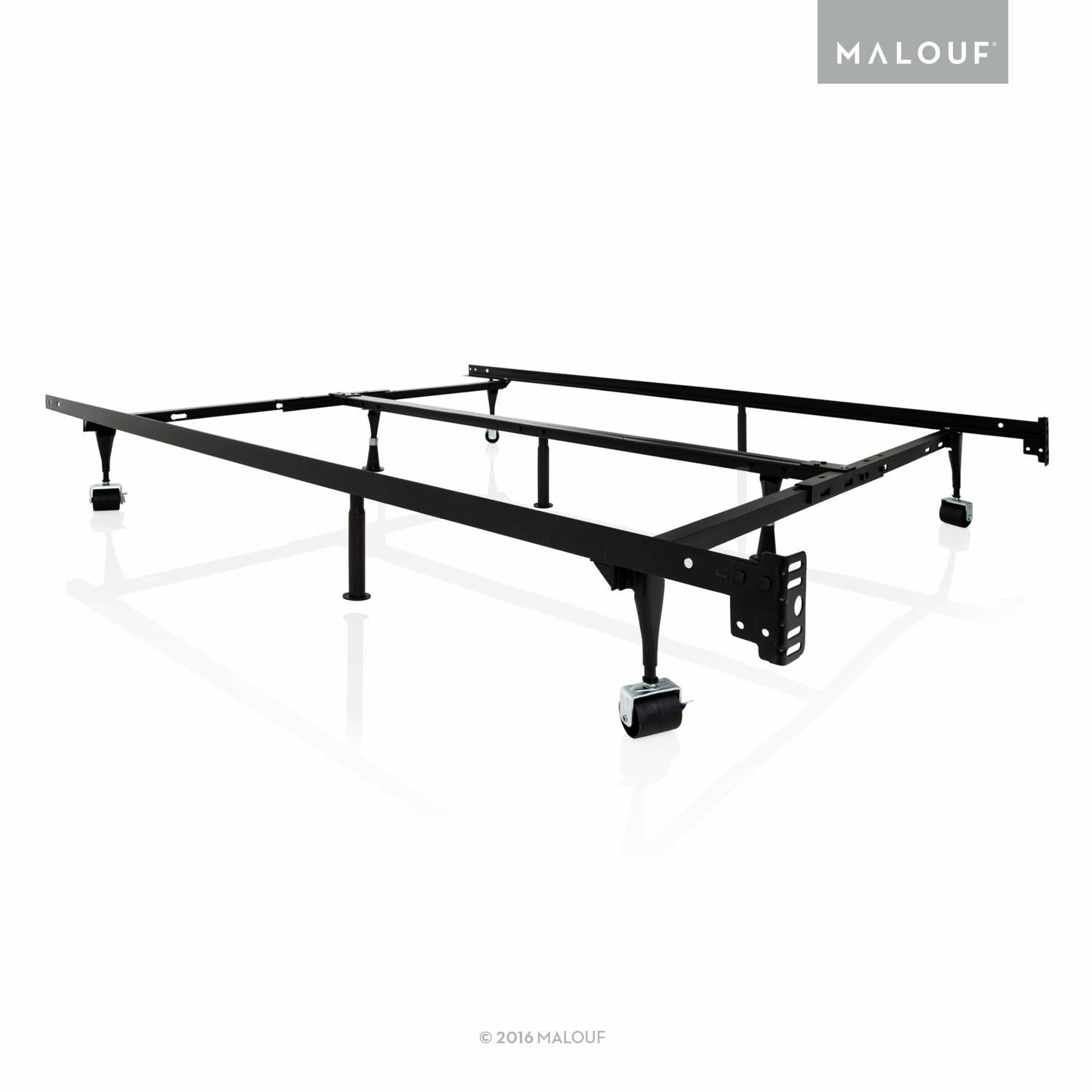 big sale db36f d8a5e STRUCTURES by Malouf Heavy Duty 9-Leg Adjustable Metal Bed Frame with  Center Support and Rug Rollers - UNIVERSAL (King, Cal King, Queen, Full,  Twin ...