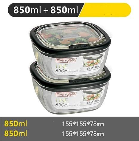 Caja de almacenamiento Caja de almuerzo de vidrio resistente ...