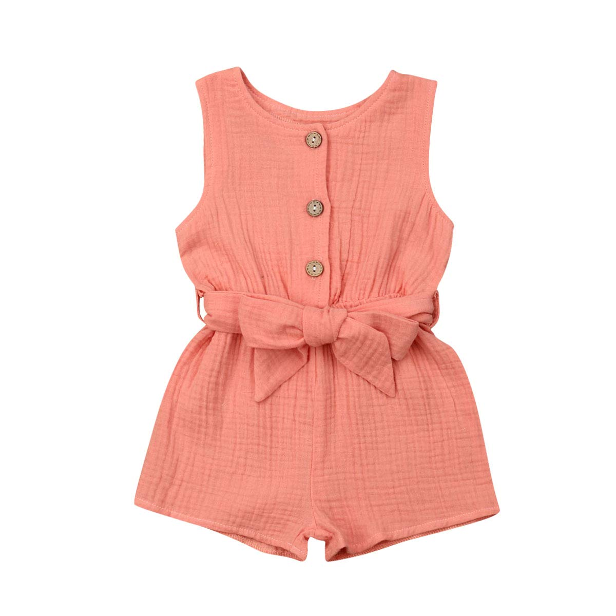 US Newborn Baby Girl Sleeveless Romper Bodysuit Jumpsuit Summer Outfits Clothes