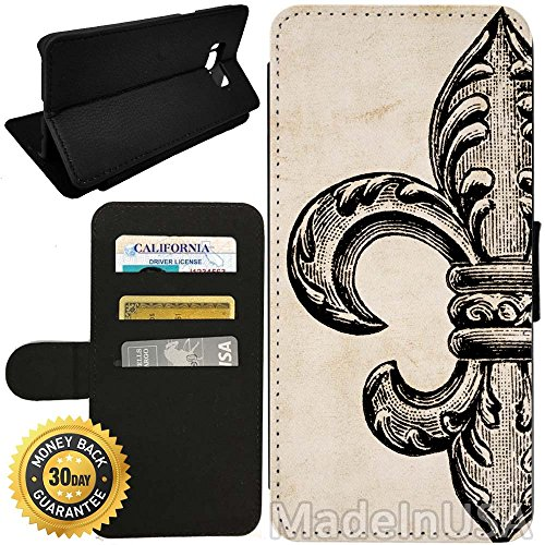 - Flip Wallet Case for Galaxy S8 Plus (Vintage Fleur De Lis) with Adjustable Stand and 3 Card Holders | Shock Protection | Lightweight | by Innosub