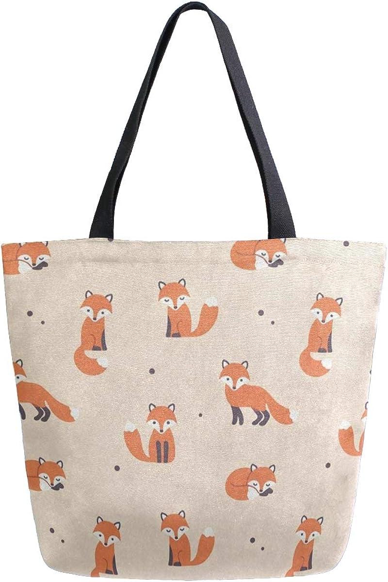 Canvas Tote Bag Cute Polka...