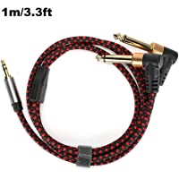 "3.5mm 1/8""TRS Male naar 2x 6.35mm 1/4"" TS Male Mono Single Track Y-Type Kabel Splitter Compatibel voor Home Stereo…"