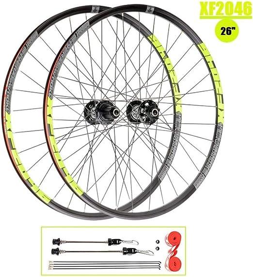 Rueda Bicicleta De Montaña MTB Ruedas 26 Pulgadas Llanta De Doble ...
