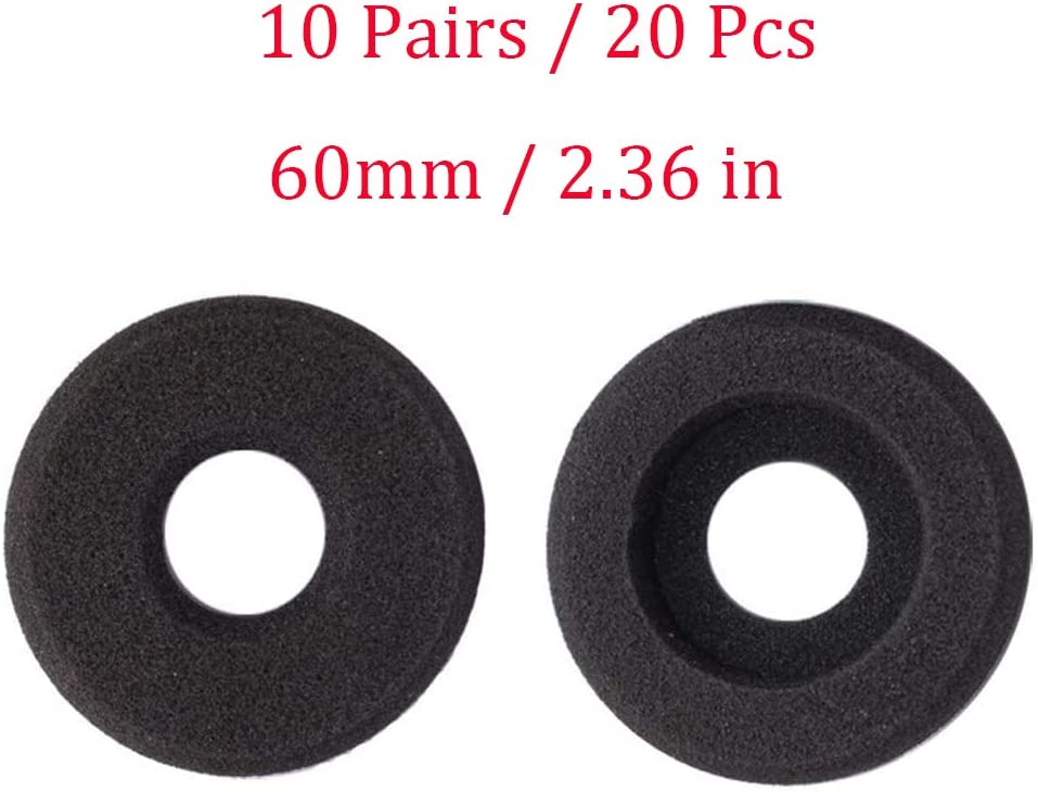 Bingle Ear Cushions Foam Doughnut Replacement for Plantronics Supra Plus Encore and Most Standard Size Office Telephone Headsets H251 H251N H261 H261N H351 H351N H361 H361N 20 Pack BEC-DN20