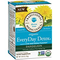 Traditional Medicinals Organic Everyday Detox Dandelion Tea, 16 Tea Bags (Pack of 6)
