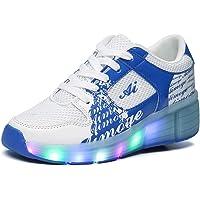 57b985cc8c8c Scarpe con rotelle e LED Automatiche per Bambini Skate Formatori Sportive  Ginnastica Lampeggiante Running Sneaker con