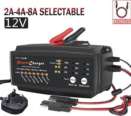 12 Volt 8A Car Battery Charger
