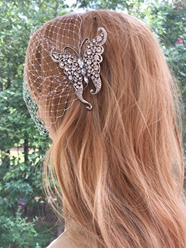 BridalRhinestone Bridal Wedding Butterfly Veil