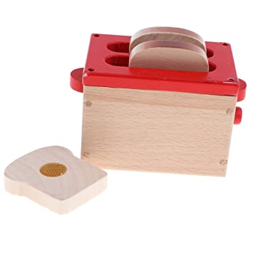Sharplace Juguete de Cocina Máquina Panificadora con Pan de Simulación Madera Juego de Imaginación para Niños
