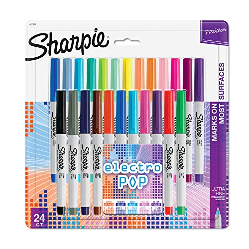 sharpie-electro-pop-permanent-markers-ultra-fine-point-assorted-colors-24-count