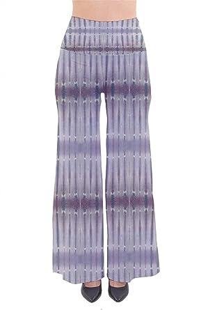 Femme Elégante Pantalon De Loisirs Printemps Eté Impression Mode Chic  Rayures Verticales Modèle Taille Haute Bouffant 42810b7188a9