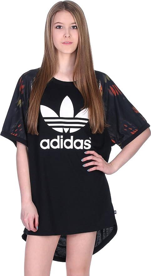 Adidas - Vestito donna Cut Out Tee nero 50  Amazon.it  Abbigliamento 5637daaa36a