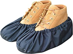 MyShoeCovers Premium Reusable Shoe and Boot Covers for Contractors - 1 Pair, Black, XX Large