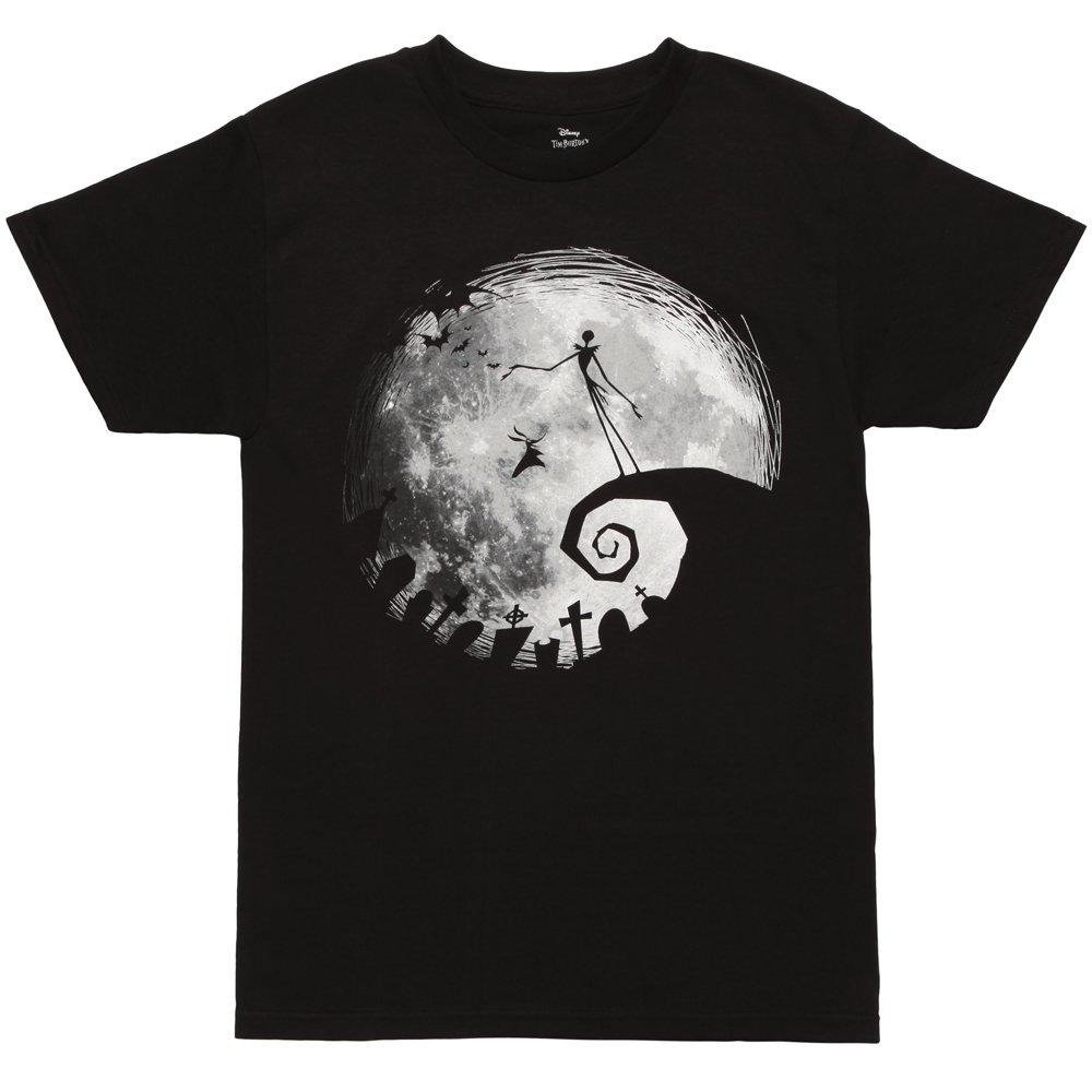 Nightmare Before Christmas Nightmare Moon Adult T-Shirt - Black (Medium)