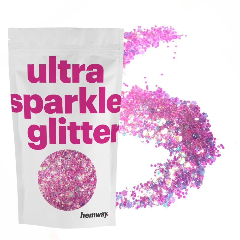 Hemway Unicorn Light Pink Mix Glitter Chunky Multi Purpose Dust Powder Arts & Crafts Wine Glass Decoration Weddings Flowers Cosmetic Face Eye Body Nails Skin Hair Festival 1kg