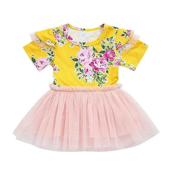 Btruely Herren Vestido de Princesa para Bebé Niña Recién Nacido (6 Meses-3 años) Varios Colores Organza Vestido de Fiesta Flor Casual de fiesta: Amazon.es: ...