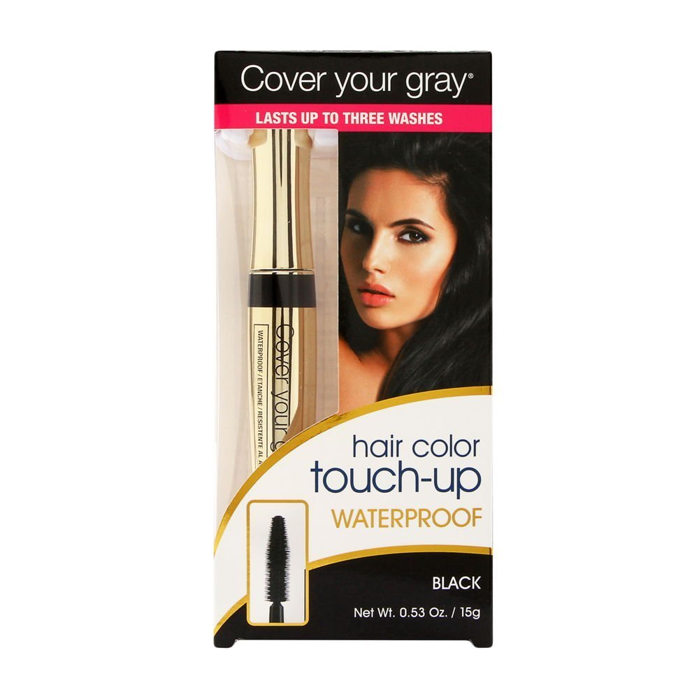 Cover Your Gray Waterproof Brush-In Black Hair Color .53 oz. Daggett & Ramsdell IG-WBB