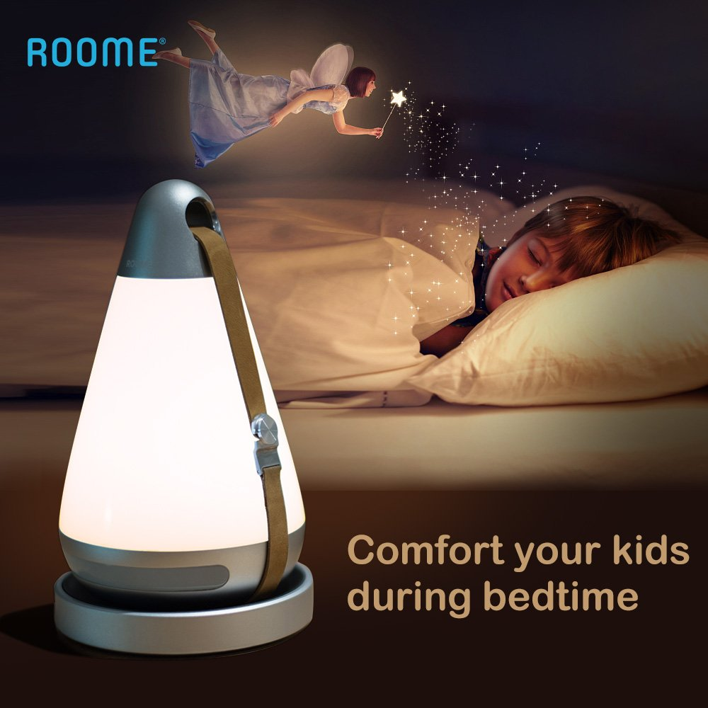 Smart Night Lights for Kids, Roome mini+ Infrared sensor Night Light, Wireless charging, Eye Caring LED, Adjustable Brightness , Timer, 2month Standby Time, APP/Remote control