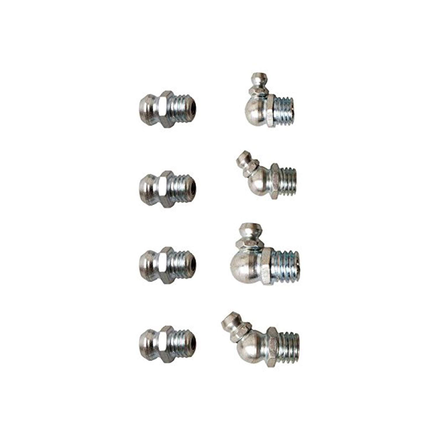 Wohlstand Grease Nipple Assortment Metric Grease Nipple Assortment Set Fittings,110pc Assorted Hydraulic Brake Metric Grease Nipple Assortment Set Fittings