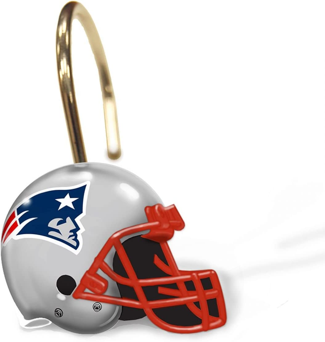 The Northwest Company New England Patriots Shower Curtain Rings