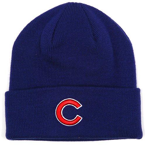 Chicago Cubs Blue Beanie Hat - MLB Cuffed Knit Toque Cap