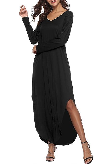 Zilcremo Mujer Verano Bohemios Maxi Vestidos Tie Dye De Hendidura Largos Vestidos Playa del Algodón: Amazon.es: Ropa y accesorios