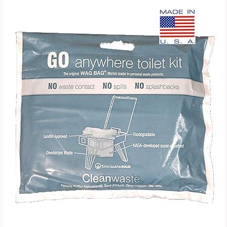 Amazon.com: WAG Cleanwaste - Bolsas portátiles para inodoro ...