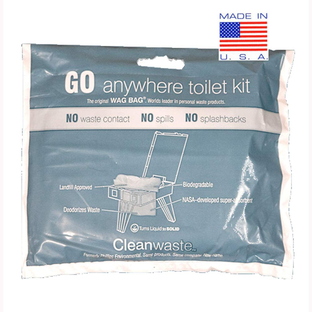 Cleanwaste GO Anywhere Toilet Kits-50/Pack (D313W50)