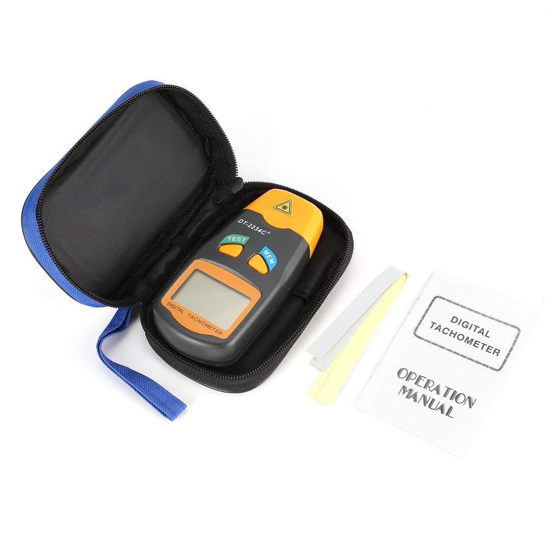 DT2234C LCD port/átil de mano Mini l/áser sin contacto Foto tac/ómetro l/áser RPM Medidor de velocidad Veloc/ímetro 2.5~99999 RPM ToGames-ES